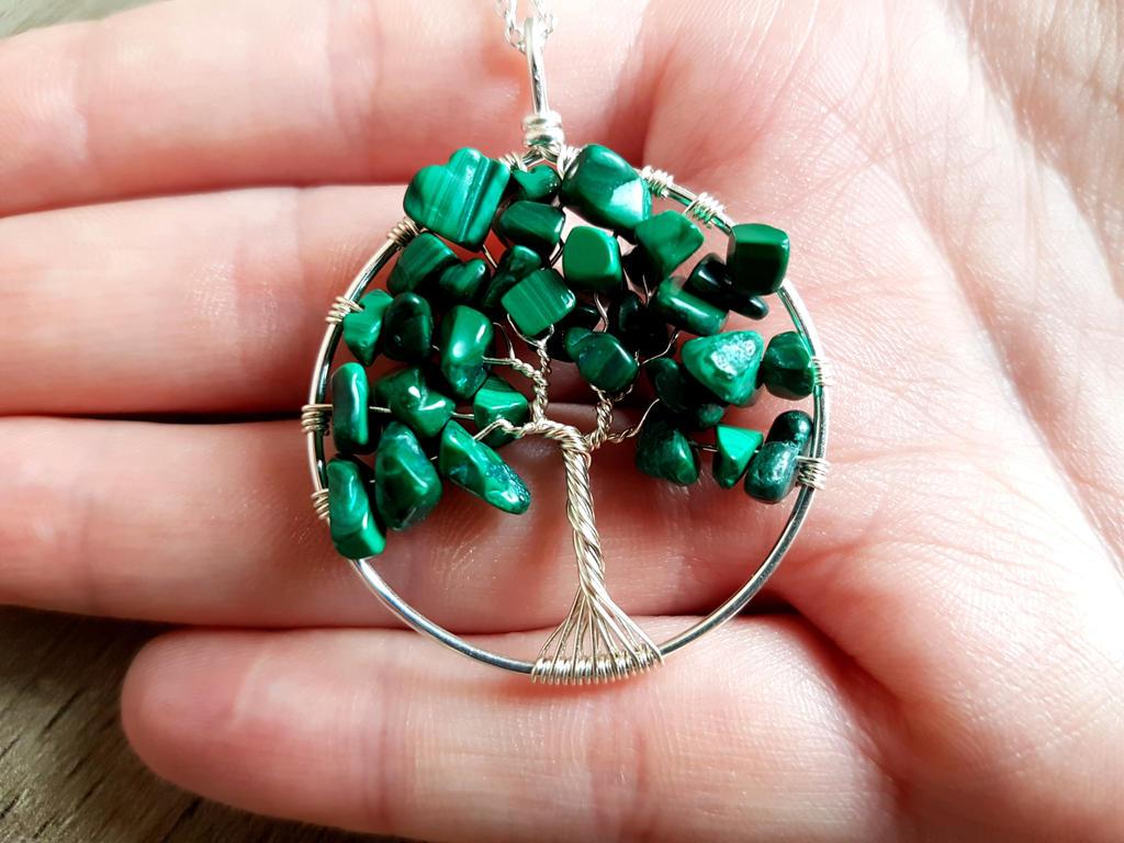 Malachite pendant by jessy25522