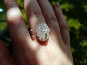 Moonstone ring.