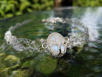 Moonstone necklace. by jessy25522