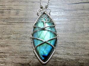 Labradorite pendant.