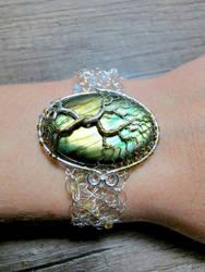 Wire crochet bracelet.