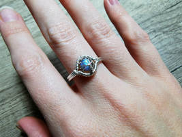 Labradorite ring.