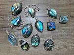Labradorite pendants. by jessy25522