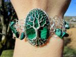 Malachite bracelet. by jessy25522