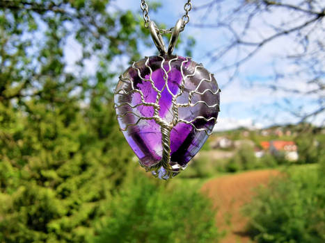 Amethyst pendant.
