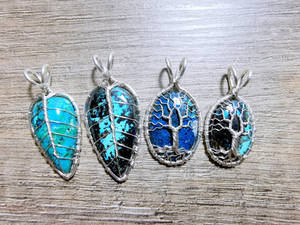 Azurite gemstones.