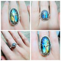 Labradorite Rings.