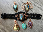 Copper jewelry.