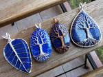 Lapis lazuli pendants.