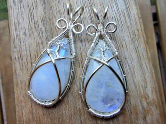 Moonstone pendants.
