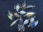 Leaf pendants.