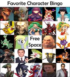 My Character Bingo by BlackEyeHawk