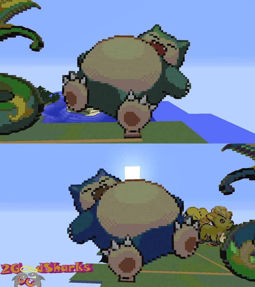 Snorlax Minecraft Pixel Art By 2goodsharks On Deviantart