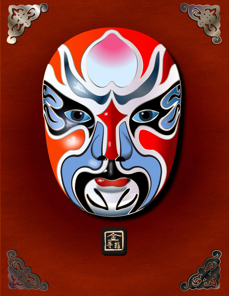 Kabuki mask by jmanggala on deviantart for Kabuki mask template
