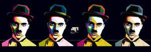 WPAP of Charlie Chaplin