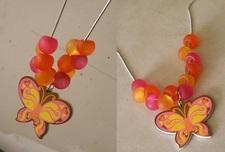 Fluttershy Inspired Butterfly Necklace by CorterMoon