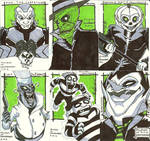 Ghostbusters Sketch cards 1