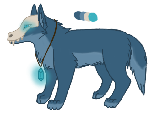 Adoptable Auction - Skulled Wolf by FoxCatcher