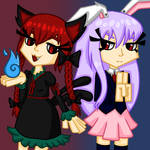 Hell cat and Moon bunny