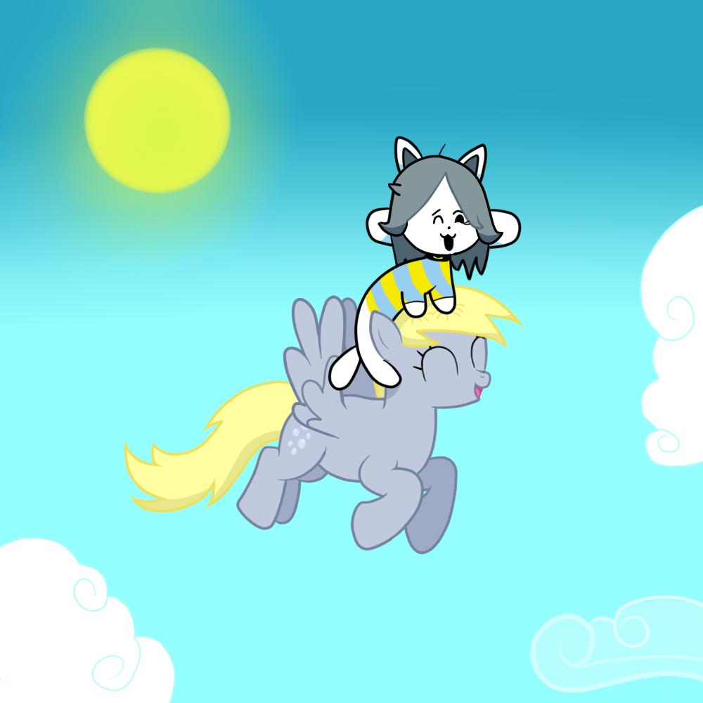 Temmie and derpy hooves by yufery5 on deviantart - Temmie deviantart ...