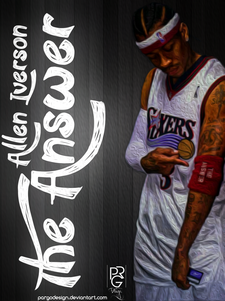 Allen Iverson 'The Answer' by PARGOdesign on DeviantArt