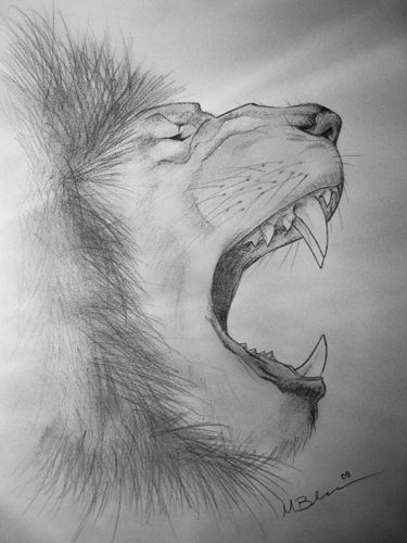 Roaring Lion By Everade On Deviantart Drawing roaring lion face with pencil is easy now. roaring lion by everade on deviantart