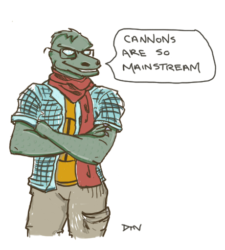 Hipster Gorn judges your weapon of choice by not-sleeping
