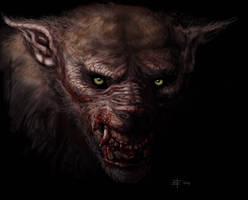 Werewolf head on