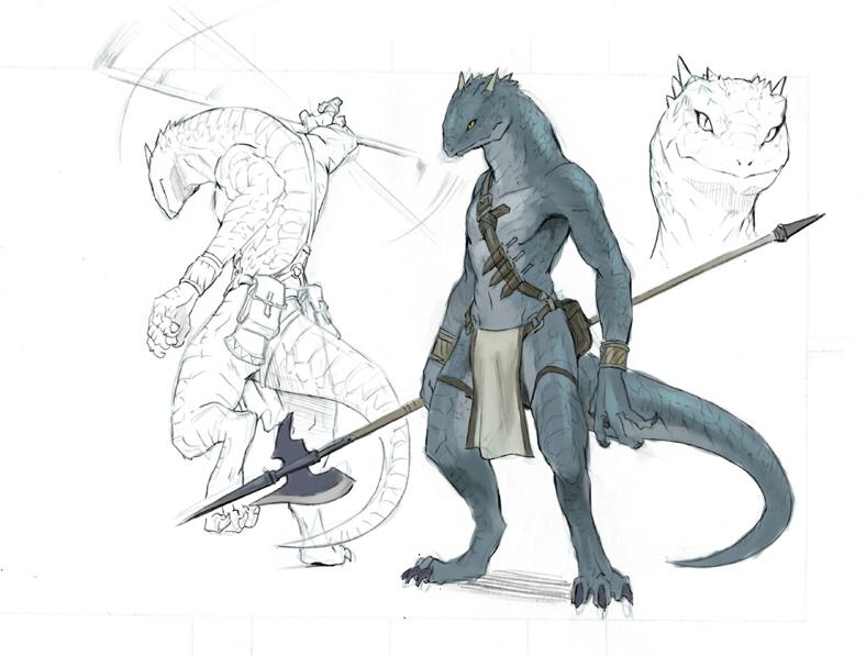 Zhloogard, pescador y recolector. Lizard_man_by_koutanagamori
