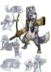 otomo wolf by koutanagamori