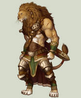 Lion Warrior by koutanagamori