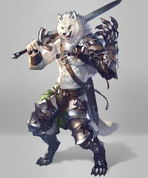 Wolf swordsman