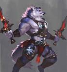 Twin sword Wolf