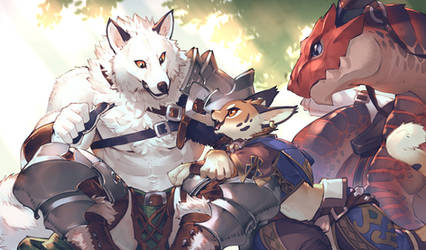 Swordsman and rider by koutanagamori