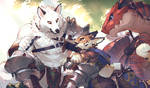 Swordsman and rider