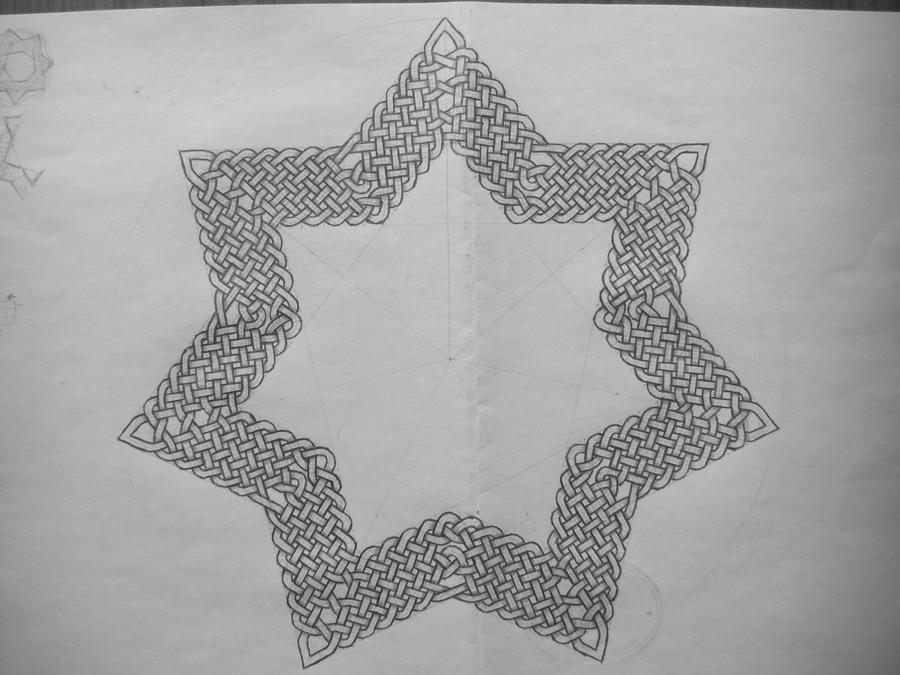 Odd star celtic knot by Trablete