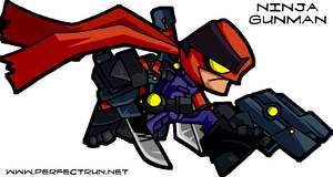 Ninja Gunman Game Sprite