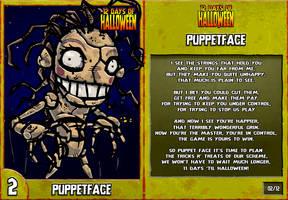 12 Days of Halloween - 1. Puppetface