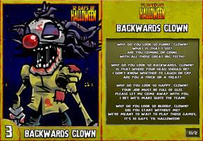 12 Days of Halloween - 3. Backwards Clown