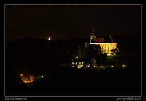 Srbska Kamenice at Night