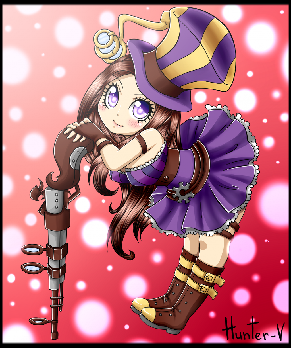 Caitlyn Chibi. by Hunter-V on DeviantArt