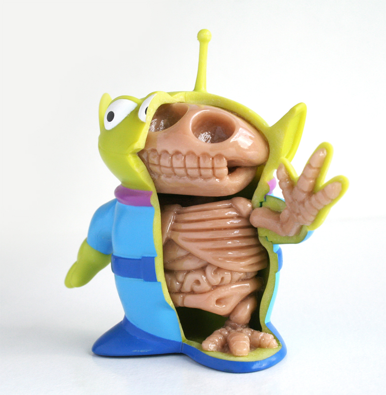 Toy Story Alien Anatomy Sculpt by freeny