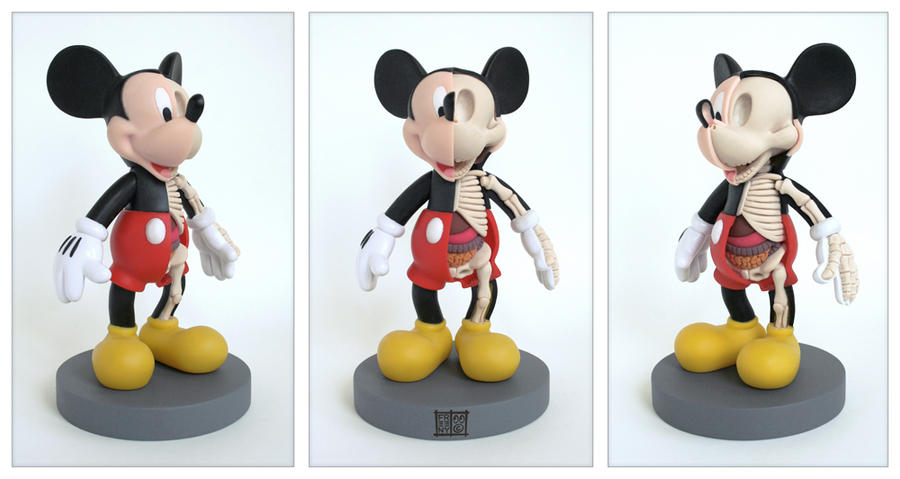 Mickey Mouse Anatomy Sculpt by freeny