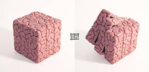 Rubiks Cube Brain Sculpt