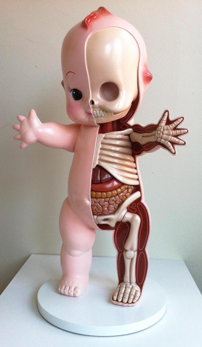 Giant Kewpie Anatomy Sculpt by freeny