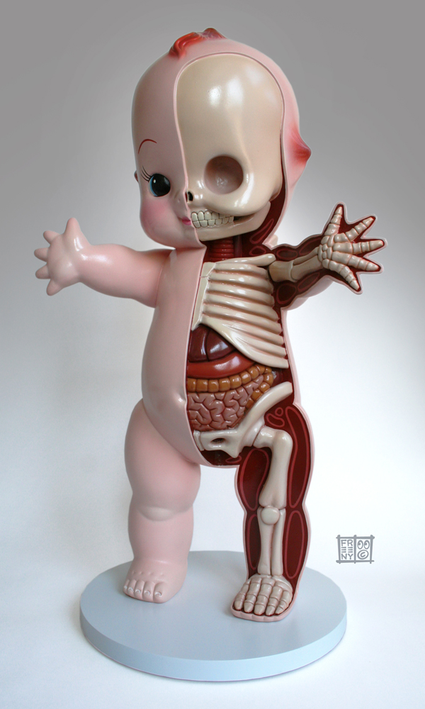 22' Kewpie Dissection sculpt by freeny