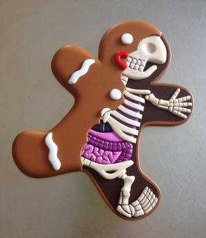 Sculpted anatomical Gingerbread Man