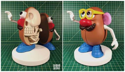 Mr Potato Head Skeleton by freeny