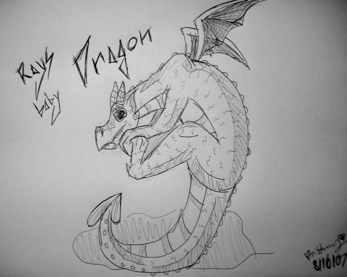 Rays Baby Dragon by leoslittlebride