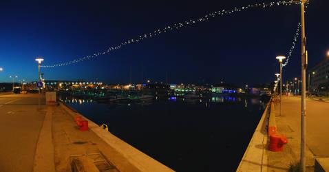 night time dock